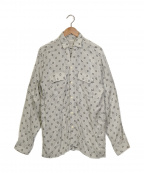 FILL THE BILL(フィルザビル)の古着「総柄シャツ」|ホワイト