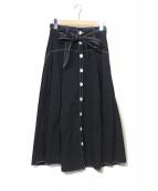 POLO RALPH LAUREN(ポロ・ラルフローレン)の古着「ブロードクロス A ライン スカート」 ブラック