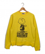 A BATHING APE()の古着「プリントスウェット」|イエロー