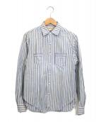 ()の古着「懐中時計ループ ワークシャツ」|ブルー