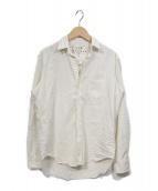 ()の古着「ダメージ加工スキッパーシャツ」 アイボリー