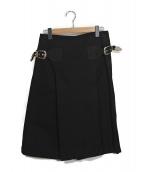 TOGA PULLA(トーガプルラ)の古着「サイドベルトデザインハーフパンツ」|ブラック