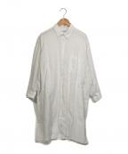 INDIVIDUALIZED SHIRTS(インディビジュアライズドシャツ)の古着「リネンシャツワンピース」|ホワイト