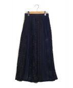 BONUM(ボナム)の古着「ヴィンテージライクレーススカート」|ネイビー