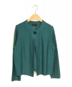 YOSHIE INABA(ヨシエ イナバ)の古着「絹紡リリヤーンカーディガン 20年モデル」|グリーン