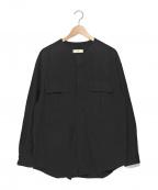 UNFIL(アンフィル)の古着「プルオーバーシャツ」|ブラック