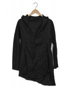 ()の古着「リネンフーデッドジャケット」 ブラック
