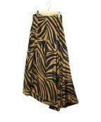 3.1 phillip lim(スリーワンフィリップリム)の古着「ゼブラ柄コレクションスカート」|ブラウン×ブラック