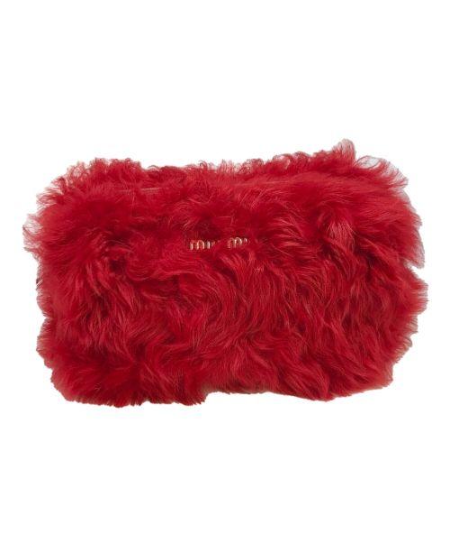 MIU MIU(ミュウミュウ)MIU MIU (ミュウミュウ) ファーバッグ レッド サイズ:下記参照の古着・服飾アイテム