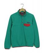 ()の古着「プルオーバーフリースジャケット」|グリーン