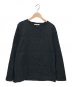 LUCIO VANOTTI(ルーチョ バノッティ)の古着「中綿プルオーバー」|ネイビー