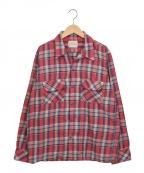 BONCOURA(ボンクラ)の古着「ONE-UP SHIRTS/ワンナップシャツ」|レッド