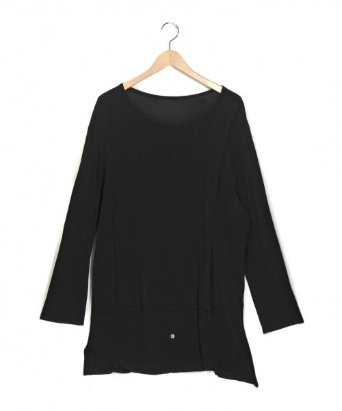 GROUND Y(グランドワイ)GROUND Y (グランドワイ) Shirt docking dress type1  ブラック サイズ:1 切替カットソー ドッキングシャツの古着・服飾アイテム