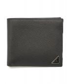 PRADA(プラダ)の古着「2つ折り財布」 ブラック