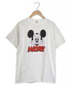6(ROKU) BEAUTY&YOUTH(ロクビューティーアンドユース)の古着「ミッキークルーネックTシャツ」|ホワイト