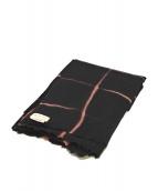 DRIES VAN NOTEN(ドリスヴァンノッテン)の古着「マフラー」|ピンク×ブラック