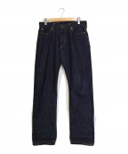 JAPAN BLUE(ジャパンブルー)の古着「セルビッチスタンダードストレートデニム」 インディゴ