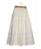 ()の古着「刺繍レーススカート」 ホワイト