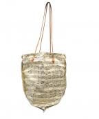 manipuri(マニプリ)の古着「スカーフラフィア切替トートバッグ」 ベージュ