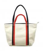 KITAMURA(キタムラ)の古着「インナーポーチ付2wayバッグ」 トリコロールカラー