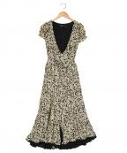 POLO RALPH LAUREN()の古着「フローラルクレープラップドレス」|ホワイト