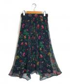 自由区(ジユウク)の古着「プリンシーズガーデンプリント スカート」|ネイビー