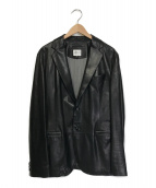 ARMANI COLLEZIONI(アルマーニ コレツィオーニ)の古着「ラムレザージャケット」|ブラック