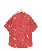 PAPAS(パパス)の古着「AIR PAPASプリントリネンシャツ」 レッド