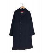 pallaspalace nume(パラスパレス ヌメ)の古着「リバーシブルウールコート」|ネイビー