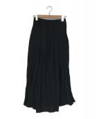 Plage(プラージュ)の古着「Linen Flared スカート」|ブラック
