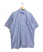 INDIVIDUALIZED SHIRTS(インディビジュアライズドシャツ)の古着「BROAD SHORT SLEEVE BIG SHIRTS」|ブルー