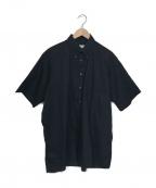 INDIVIDUALIZED SHIRTS(インディビジュアライズドシャツ)の古着「ポプリンショートスリーブビッグシャツ」|ブラック