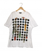 COMME des GARCONS HommePlus(コムデギャルソン オムプリュス)の古着「プリントTシャツ」|ホワイト