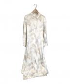emmi atelier(エミアトリエ)の古着「マルチロングワイドシャツ」|ベージュ