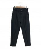MR.OLIVE(ミスターオリーブ)の古着「BELTED WIDE TAPERED PANTS」|ブラック