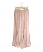 LOUNIE(ルーニー)の古着「ギャザーロングスカート」 ピンク