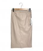 LOUNIE(ルーニー)の古着「エコレザータイトスカート」 ベージュ