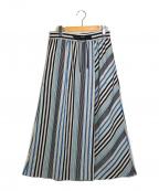 自由区(ジユウク)の古着「イタリアMANTECOストライプスカート」|ブルー