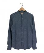 GUY ROVER(ギローバー)の古着「バンドカラーシャツ」|ブルー