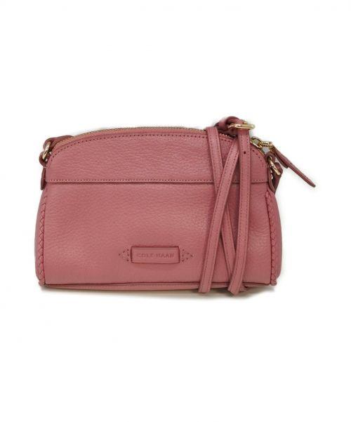 COLE HAAN(コールハーン)COLE HAAN (コールハーン) クロスボディショルダーバッグ ピンクの古着・服飾アイテム