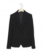 LARDINI(ラルディーニ)の古着「カシミヤ1Bジャケット」 ブラック