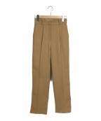 RIM.ARK(リムアーク)の古着「High waist kersey PT」|ベージュ