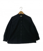 オローネ(オローネ)の古着「トリムスタンドシャツ」|ブラック