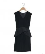 YOKO CHAN(ヨーコチャン)の古着「ペプラムワンピース」 ブラック