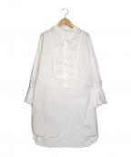 furfur(ファーファー)の古着「ビブヨークロングシャツ」|ホワイト