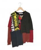 Soe(ソーイ)の古着「Layered Sweater レイヤードセーター」 レッド