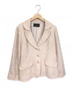 Leilian(レリアン)の古着「ツイードジャケット」 ピンク