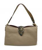 COCOCELUX GOLD(ココセリュックスゴールド)の古着「パイソン型押しワンハンドル3WAYバッグ」|グレー