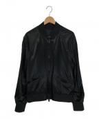 VALENTINO(ヴァレンティノ)の古着「ロックスタッズサテンボンバージャケット」 ブラック