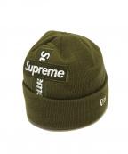 SUPREME×NEWERA(シュプリーム×ニューエラ)の古着「Cross Box Logo Beanie」|オリーブ